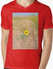 Wild Sunflower Mens V-Neck T-Shirt