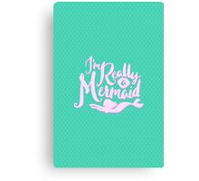 I'm Really A Mermaid // Pastel Neon Seapunk Canvas Print