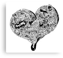 HeartFull graffiti love Canvas Print