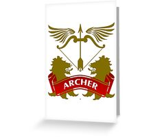 The Archer Coat-of-Arms Greeting Card