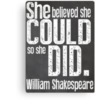 Shakespeare Quote Typography Poster Canvas Print