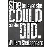 Shakespeare Quote Typography Poster Photographic Print