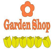 Garden Shop Logo Photographic Print