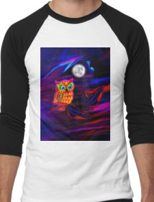 Neon Owl Thunderstorm Flash Men's Baseball ¾ T-Shirt