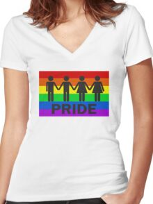 pride Women's Fitted V-Neck T-Shirt