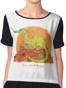 I am a book dragon version 2 Chiffon Top