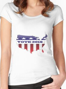 Vote Election 2016 USA Women's Fitted Scoop T-Shirt