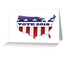 Vote Election 2016 USA Greeting Card