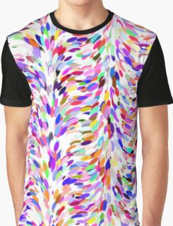 Bright Fun Summer Colors Artsy Paint Splatter Pattern Graphic T-Shirt
