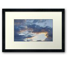 Sunset clouds Framed Print
