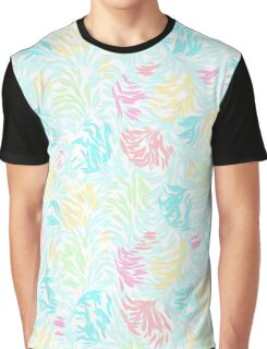Cute Summer Pastel Watercolor Brush Strokes Pattern Graphic T-Shirt