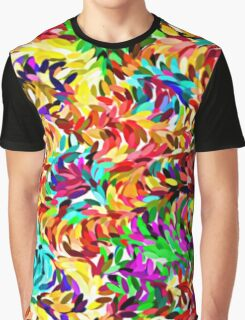 Cool Trendy Vibrant Summer Colors Paint Splatter Pattern Graphic T-Shirt