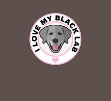 Love My Black Lab Womens Fitted T-Shirt