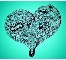 Heart full graffiti love Photographic Print
