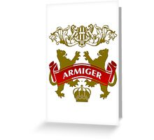 The Armiger Coat-of-Arms      Greeting Card