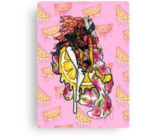 Pink Lemonade Pin-Up Girl Stationary & Decor Canvas Print