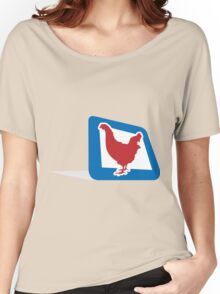 chicken in frame Women's Relaxed Fit T-Shirt