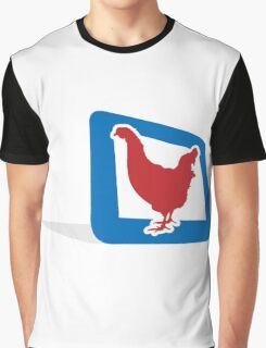 chicken in frame Graphic T-Shirt