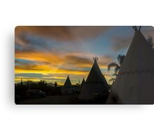 Sunrise at the Route 66 Motel Metal Print
