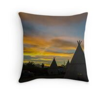 Sunrise at the Route 66 Motel Throw Pillow