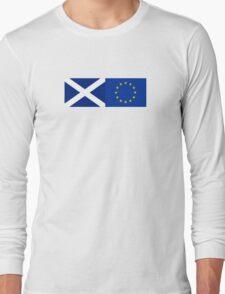 Scotland EU Flag - Scottish Stay In The European Union Sticker Long Sleeve T-Shirt