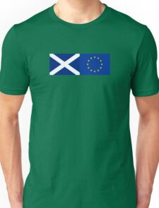 Scotland EU Flag - Scottish Stay In The European Union Sticker Unisex T-Shirt