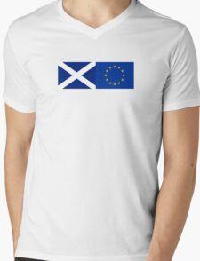 Scotland EU Flag - Scottish Stay In The European Union Sticker Mens V-Neck T-Shirt