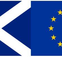 Scotland EU Flag - Scottish Stay In The European Union Sticker Sticker