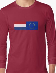 Netherlands EU Flag - Holland Stay In Referendum - The European Union Sticker Long Sleeve T-Shirt