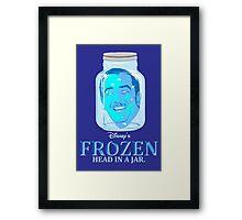 FROZEN (Head in a Jar) Framed Print