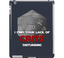 Where are the crits!? iPad Case/Skin