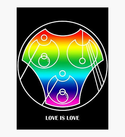Love is Love in Gallifreyan Circle Alphabet Photographic Print