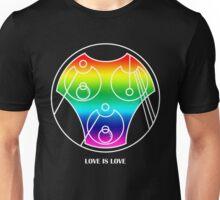 Love is Love in Gallifreyan Circle Alphabet Unisex T-Shirt