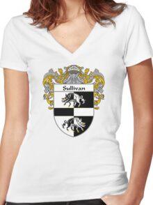 Sullivan Coat of Arms / Sullivan Family Crest Women's Fitted V-Neck T-Shirt