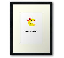 Press Start and Play Ms. Pacman Framed Print
