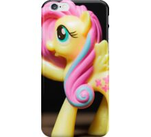 My Little Pony Portrait: Fluttershy (on black) iPhone Case/Skin