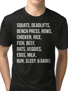 Bodybuilding List For Gains Tri-blend T-Shirt