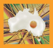 Fried Egg Cartography - Australia by ArtByRuta