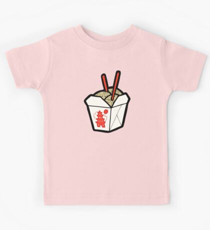 Take-Out Noodles Box Pattern Kids Clothes