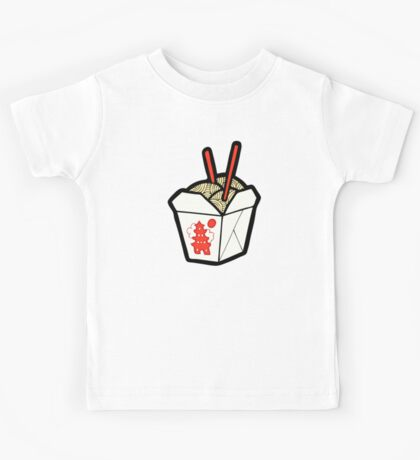 Take-Out Noodles Box Pattern Kids Tee