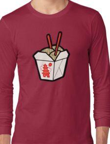 Take-Out Noodles Box Pattern Long Sleeve T-Shirt