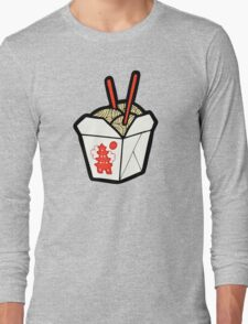 Take-Out Noodles Box Pattern Long Sleeve T-Shirt
