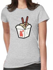 Take-Out Noodles Box Pattern Womens Fitted T-Shirt