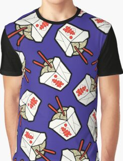 Take-Out Noodles Box Pattern Graphic T-Shirt