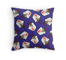 Take-Out Noodles Box Pattern Throw Pillow