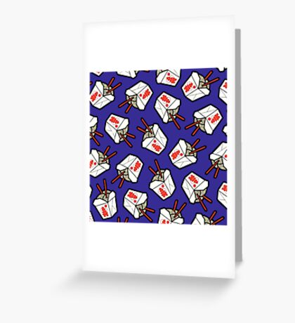 Take-Out Noodles Box Pattern Greeting Card