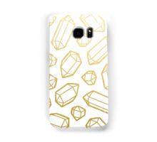 Gold and White Gemstone Pattern Samsung Galaxy Case/Skin