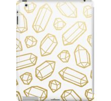 Gold and White Gemstone Pattern iPad Case/Skin