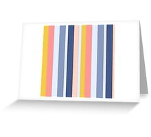 Gorgeous Pastel Watercolor Stripes Greeting Card