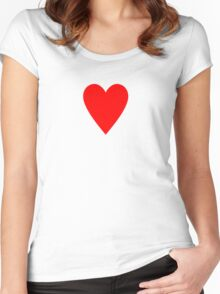 Ace of Hearts - Valentine Heart T-Shirt Duvet Dress Skirt Sticker Card Women's Fitted Scoop T-Shirt
